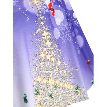 Christmas Tree Santa Claus Plus Size Skirt - PURPLE 3XL