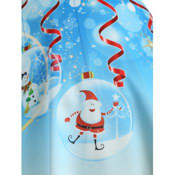 Christmas Tree Santa Claus Plus Size Skirt - BLUE 2XL
