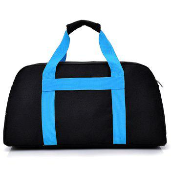 Letter Print Contrasting Color Gym Bag -  BLUE