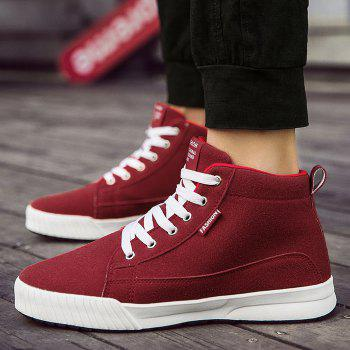 Tie Up High Top Skate Shoes - RED 40