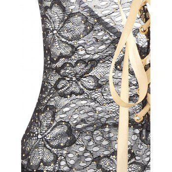 Lace Sheer Lingerie Slip Dress - BLACK ONE SIZE
