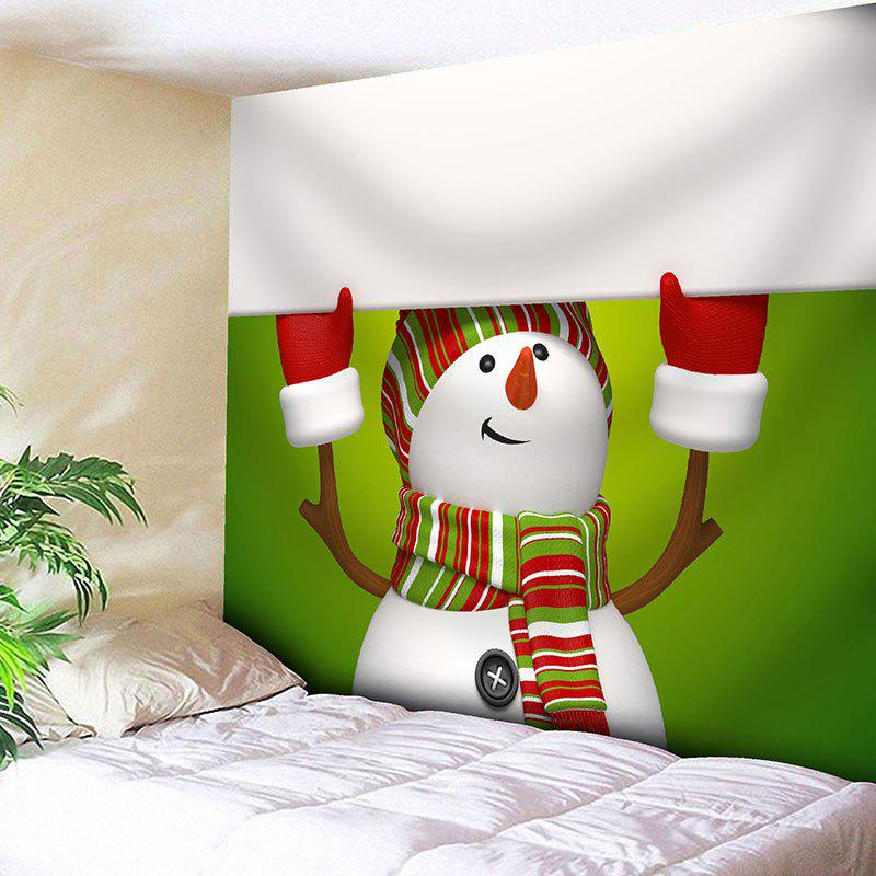 Christmas Snowman Patterned Wall Decor Tapestry christmas tree snowman printed wall tapestry