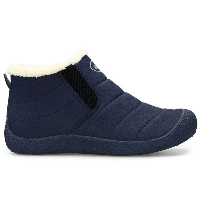 Faux Fur Lining Slip On Warm Snow Boots - BLUE 40