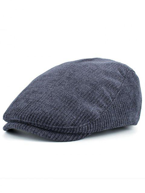 Vertical Stripe Pattern Embellished Adjustable Cabbie Hat - CADETBLUE
