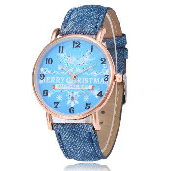 Merry Christmas Face Number Watch - BLUE BLUE