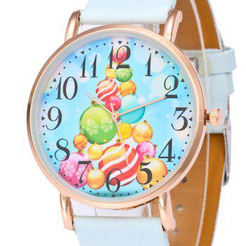 Christmas Baubles Face Number Watch -  LIGHT BLUE