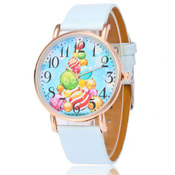 Christmas Baubles Face Number Watch - LIGHT BLUE LIGHT BLUE