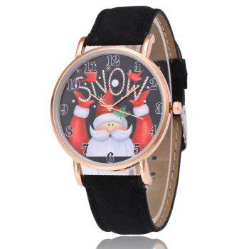 Montre de Noël Santa Snow Face Number