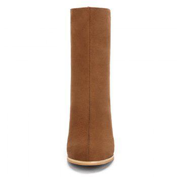 Almond Toe High Heel Boots - BROWN 43