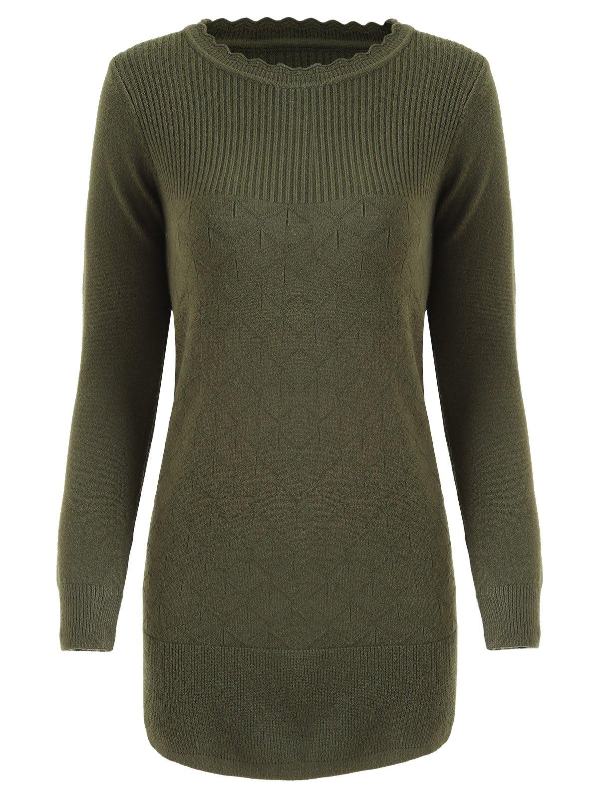 Ribbed Crew Neck Knitwear 233789802