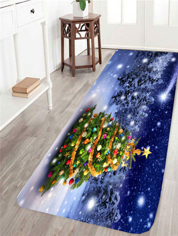 Snows Christmas Tree Printed Antislip Rug - COLORFUL W24 INCH * L71 INCH