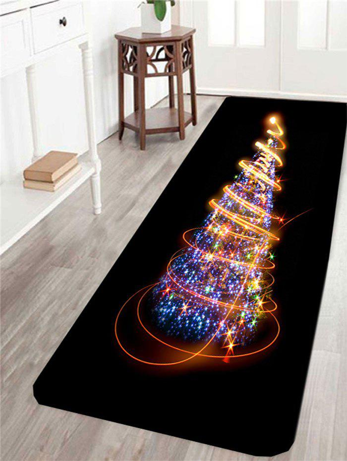 Skidproof Colorful Lighting Christmas Tree Pattern Rug - COLORFUL W24 INCH * L71 INCH