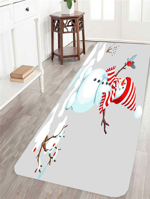 Christmas Snowman Patterned Skidproof Area Rug stripes scarf snowman patterned shower curtain