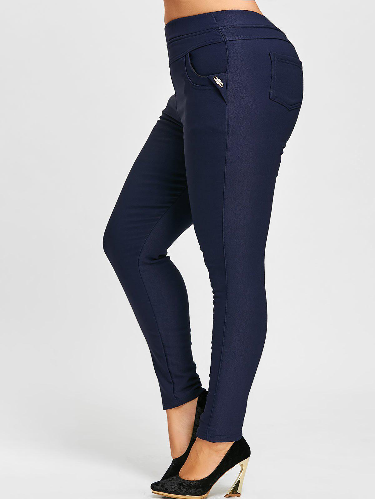 Plus Size Elastic Waist Fleece Lined Ponte Pants inc international concepts plus size bootcut pull on ponte knit pants