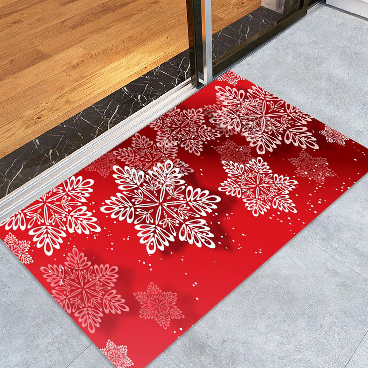 Christmas Snowflakes Pattern Indoor Outdoor Area Rug