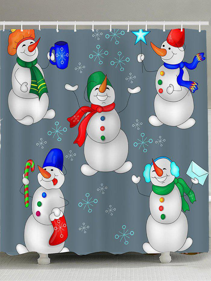 Happy Christmas Snowmen Family Print Shower Curtain женские сланцы tahiti