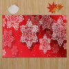 Christmas Snowflakes Pattern Indoor Outdoor Area Rug - RED W16 INCH * L24 INCH