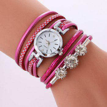 Rhinestone Wrap Bracelet Quartz Watch