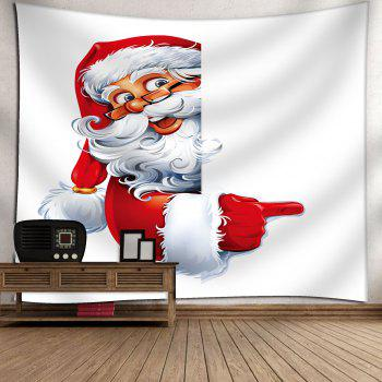 Santa Claus Printed Wall Hanging Christmas Tapestry - WHITE W59 INCH * L51 INCH