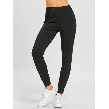 Track Double Striped Tapered Pants - BLACK BLACK