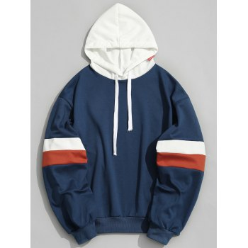 Color Block Mens Hoodie - BLUE BLUE