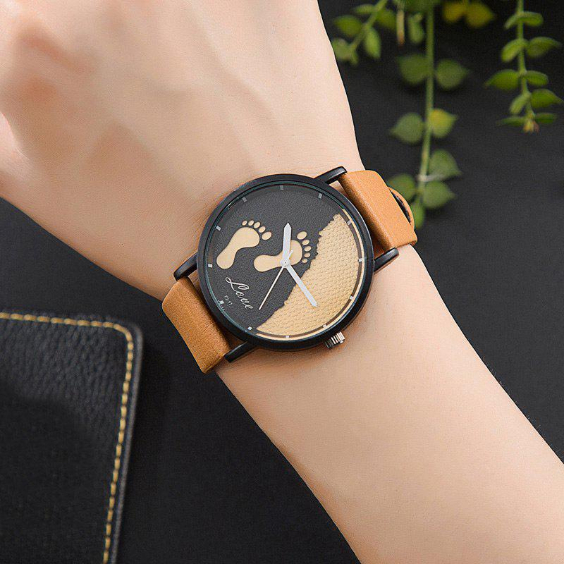 brown unisex white black faux leather band item watches watch buckle strap men s women