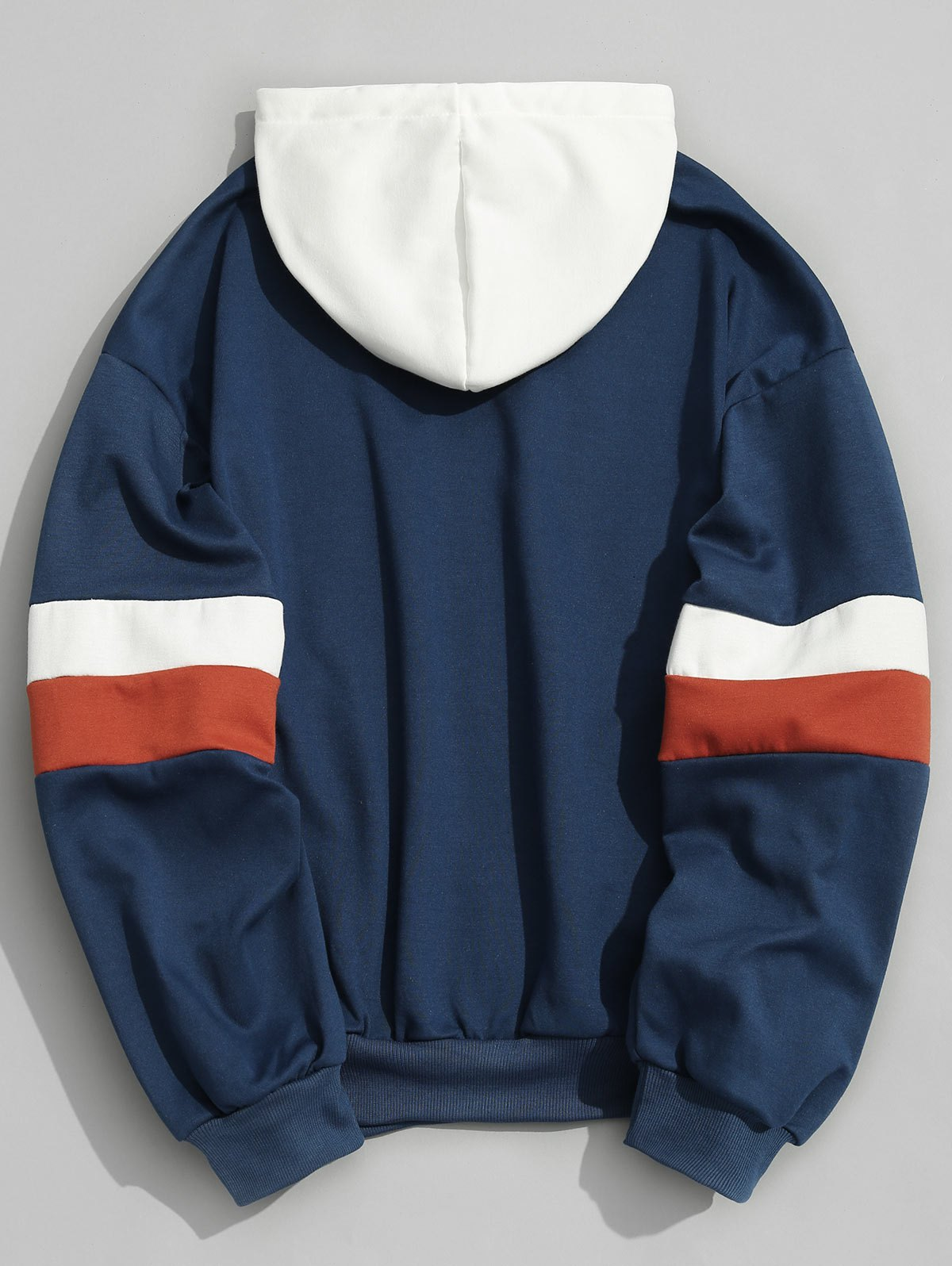 Color Block Mens Hoodie - BLUE L