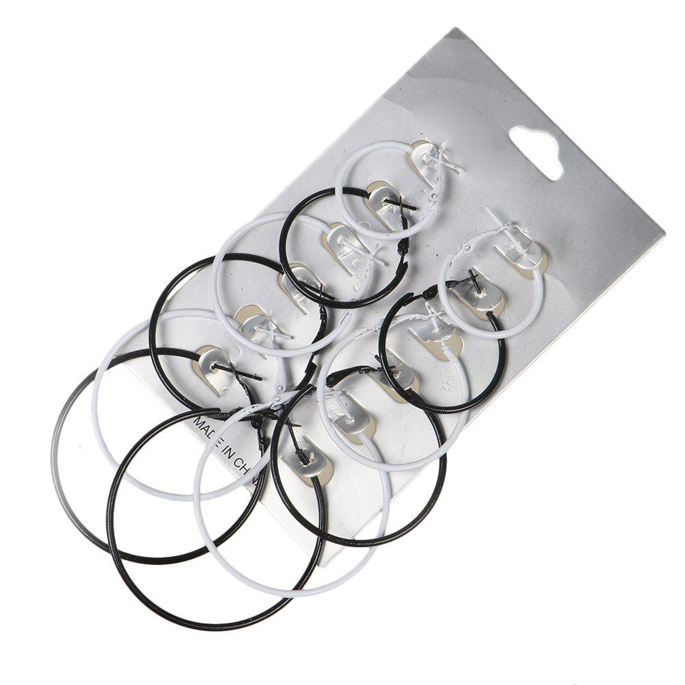 Metal Circle Hoop Earring Set