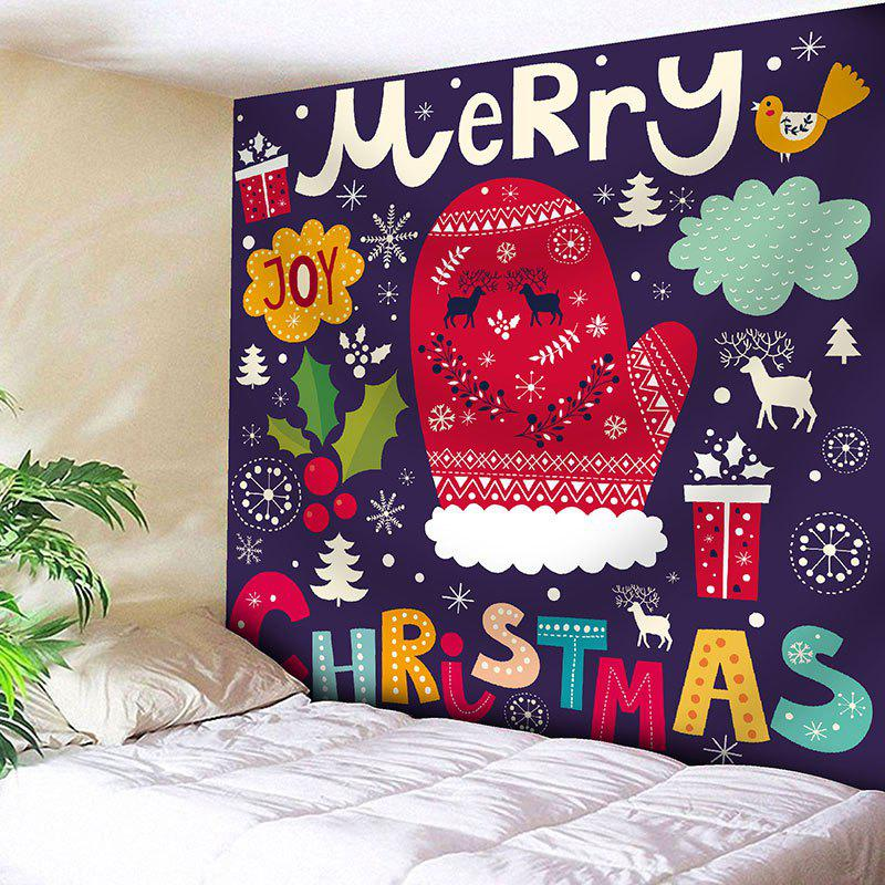 Bedroom Decor Christmas Elements Printed Wall Tapestry - COLORFUL W79 INCH * L71 INCH