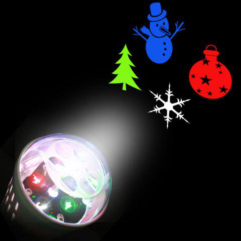 Party Decor Christmas Tree Snowman Baubles Pattern Projector Light Bulb - WHITE US