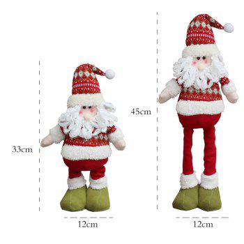 Santa Claus Elk Snowman Pattern 3Pcs Retractable Christmas Dolls - COLORFUL