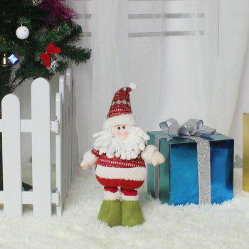 Santa Claus Patterned Retractable Christmas Doll - RED/WHITE