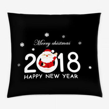 2018 Merry Christmas Double Sided Printed Pillowcase - BLACK W18 INCH * L18 INCH