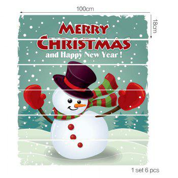 Happy Snowman Pattern Decorative Stair Stickers - COLORFUL 6PCS:39*7 INCH( NO FRAME )