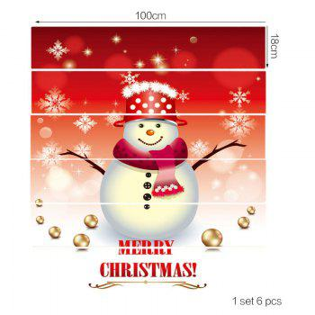 Decorative Snowman Printed Stair Stickers - COLORFUL 6PCS:39*7 INCH( NO FRAME )