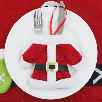 Christmas Shape for Home Table Decorations Knife and Fork Bag - RED