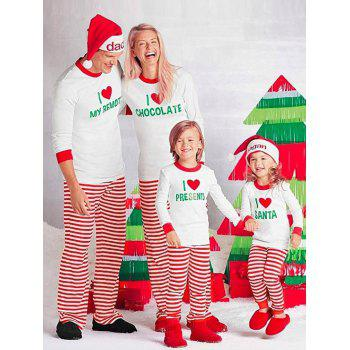 Stripe LOVE Matching Family Christmas Pajamas Set