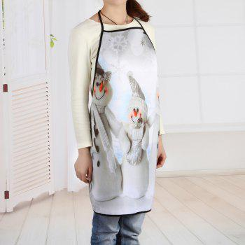 Christmas Snowmen Family Print Apron - GREY WHITE 80*70CM