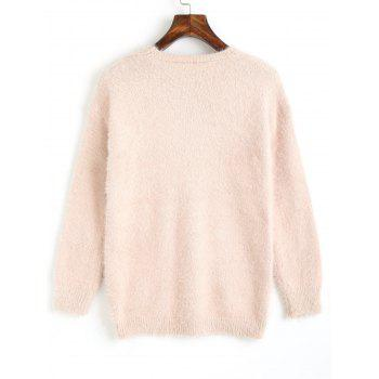 Pull Fluffy en V - Abricot ONE SIZE