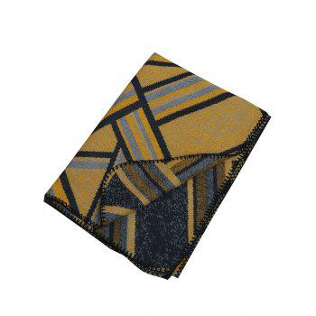 Vintage Outdoor Faux Wool Shawl Scarf - YELLOW YELLOW