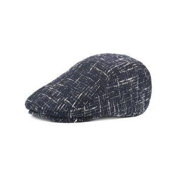 Outdoor Color Splice Pattern Adjustable Duckbill Hat - CADETBLUE CADETBLUE