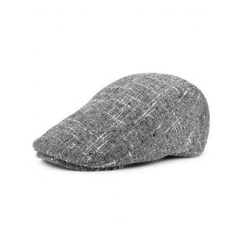 Outdoor Color Splice Pattern Adjustable Duckbill Hat - GRAY GRAY