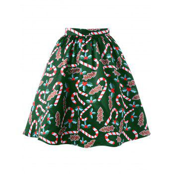 Graphic Christmas Flare Skirt