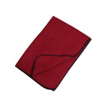 Vintage Outdoor Faux Wool Shawl Scarf - RED RED