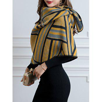 Vintage Outdoor Faux Wool Shawl Scarf - YELLOW