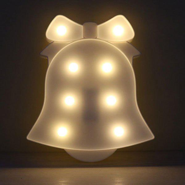 Christmas Bell Shape Home Decor Night Light - WHITE