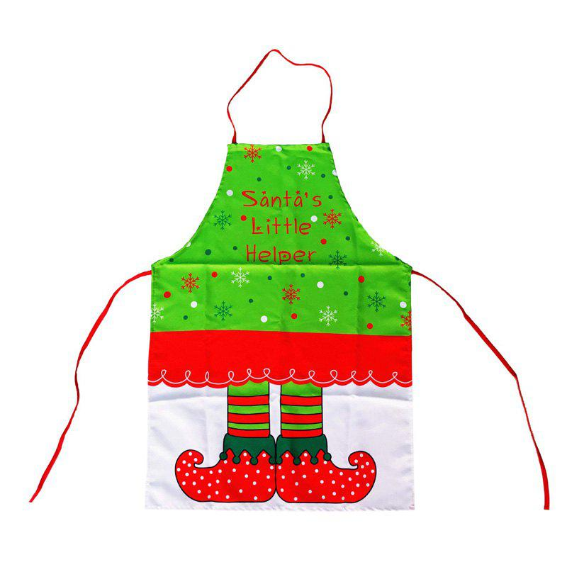 Santa's Little Helper Boots Printed Christmas Apron - COLORMIX