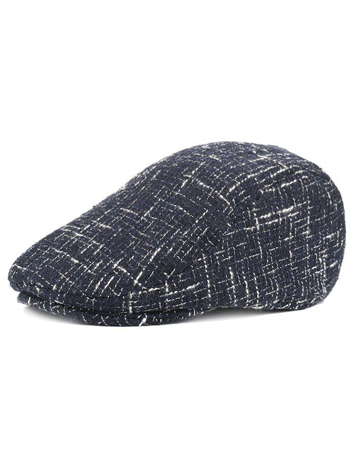 Outdoor Color Splice Pattern Adjustable Duckbill Hat - CADETBLUE
