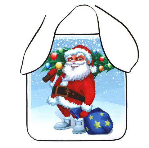 Santa Claus Print Waterproof Polyester Christmas Apron - COLORMIX 80*70CM