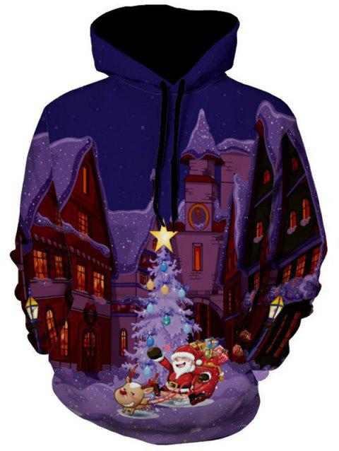 Santa Clause Castle 3D Print Christmas Hoodie - COLORMIX M